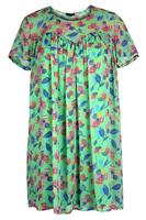 Lovedrobe Green/Multi Floral Chiffon Swing Dress