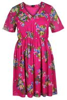 Lovedrobe Pink/Multi Floral Chiffon Skater Dress