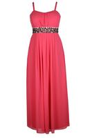 Lovedrobe Pink Jewel Trim Maxi Dress