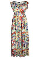 Lovedrobe Coral/Multi Floral Print Maxi Dress