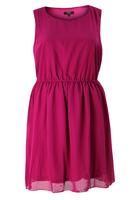 Koko Cerise Sleeveless Skater Dress