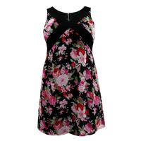 Lovedrobe Pink/Multi Floral Chiffon Dress