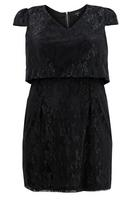 Koko Black Lace Cap Sleeve Dress