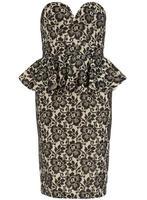 Lovedrobe Lace Overlay Peplum Dress
