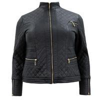 Lovedrobe Black Quilted PU Biker Jacket