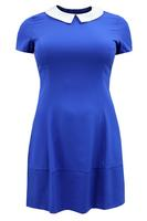 Koko Blue & White Peter Pan Collar Tunic Dress