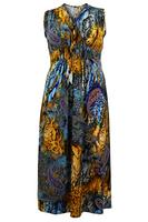 Ladies Multi Paisley Snake Print Maxi Dress