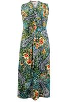 Ladies Multi Paisley Floral Print Maxi Dress