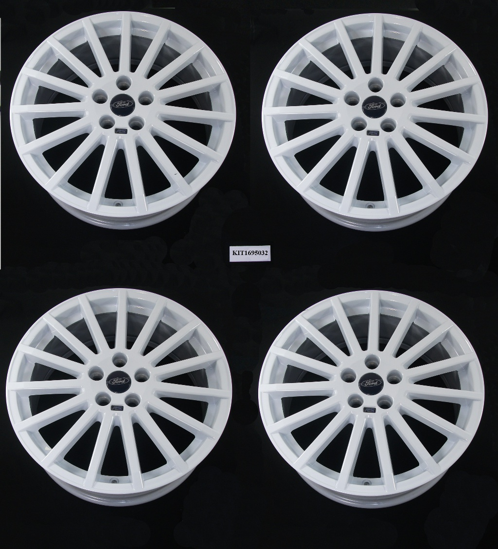FORD RS Accessory 18&quot; Alloy Wheel Set of 4 White Finish 