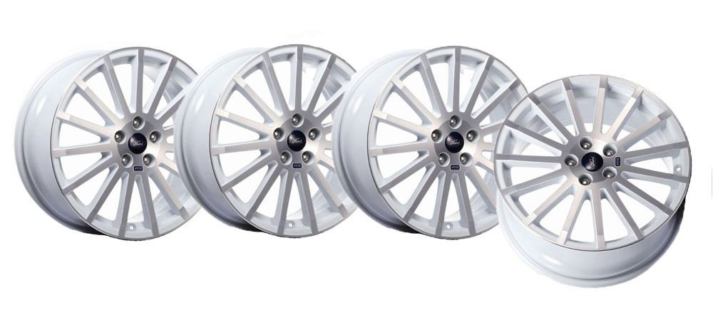 "FORD RS Accessory 18"" Alloy Wheel Set of 4 White Machined KIT1695035"