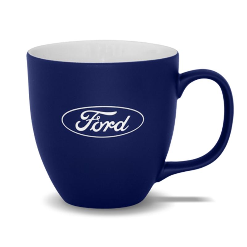new genuine ford blue oval coffee mug 35010600 ebay. Black Bedroom Furniture Sets. Home Design Ideas
