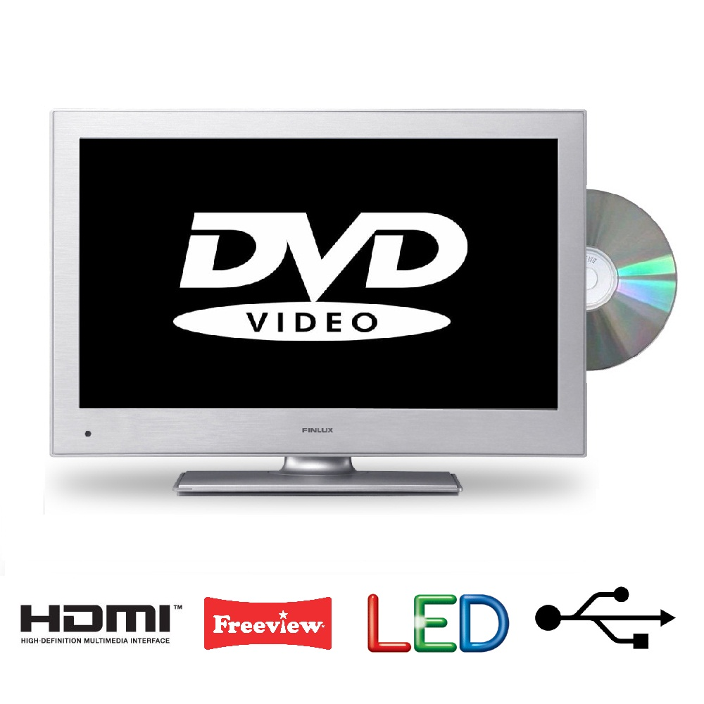 22 inch tv dvd combi from finlux silver full hd freeview usb pvr 2x hdmi ebay. Black Bedroom Furniture Sets. Home Design Ideas