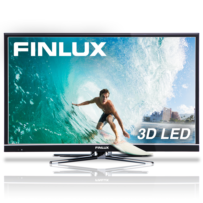 Finlux 32'' 3D LED TV, HD 720p, Freeview HD, PVR & 8x 3D Glasses (32H7072-DT)