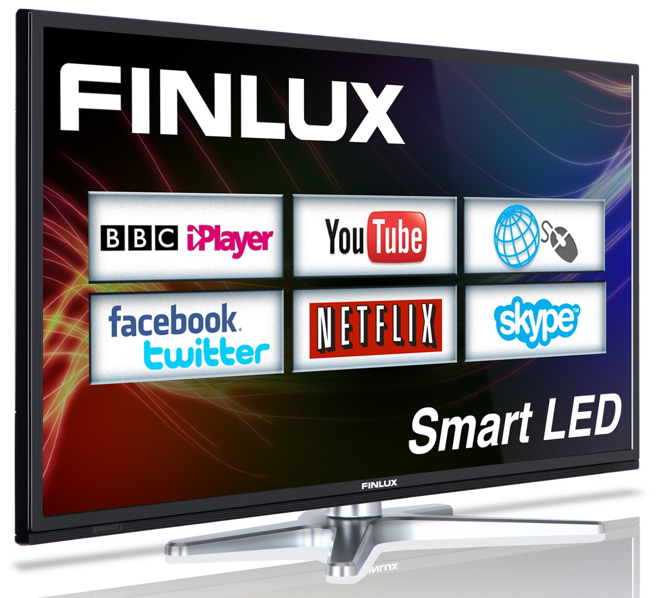 Finlux 40'' Smart LED TV Web Browsing Netflix Skype Freeview HD PVR (40F8073-T)