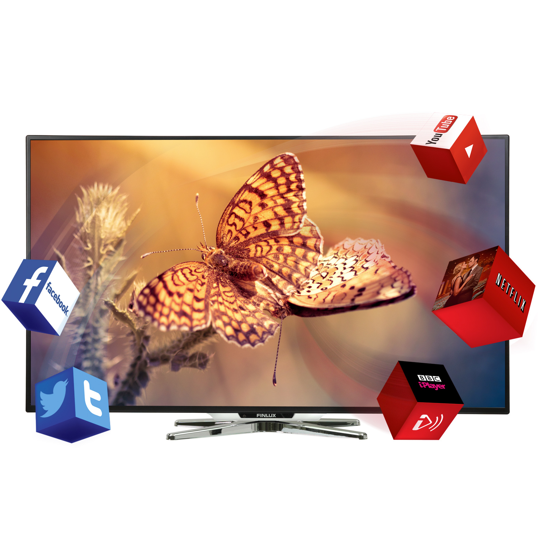 Finlux 50 Inch Smart LED TV Full HD 1080p Freeview HD (50FME242B-T)