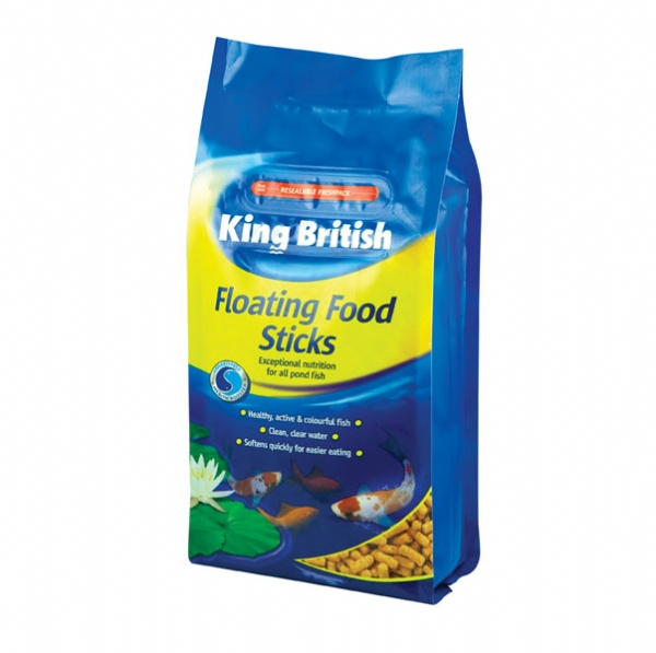 King british pond fish food floating sticks for all types for Pond fish food