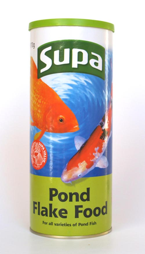 Supa pond flake floating fish food for koi and all types of pond fish