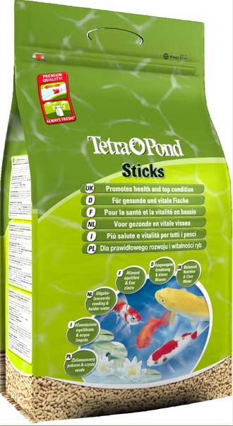 Tetra pond sticks pond fish food for koi other types of fish for Pond fish varieties