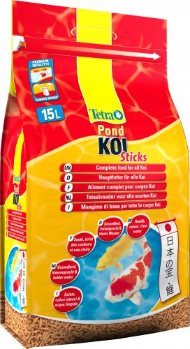 Tetra koi sticks pond fish food for koi carp ebay for Best food for koi fish