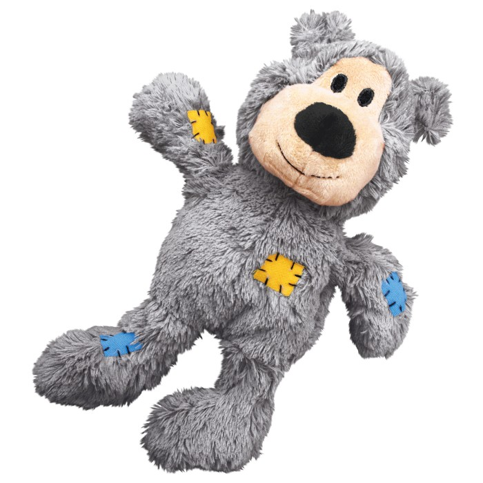 Kong Wild Knots Teddy Bear Dog Toy With Rope Inside Pick