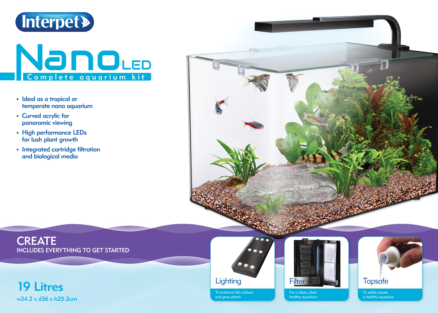 Small nano aquarium fish tank tropical -  Details About Interpet Nano Led Fish Tank Aquarium Kit Various Sizes