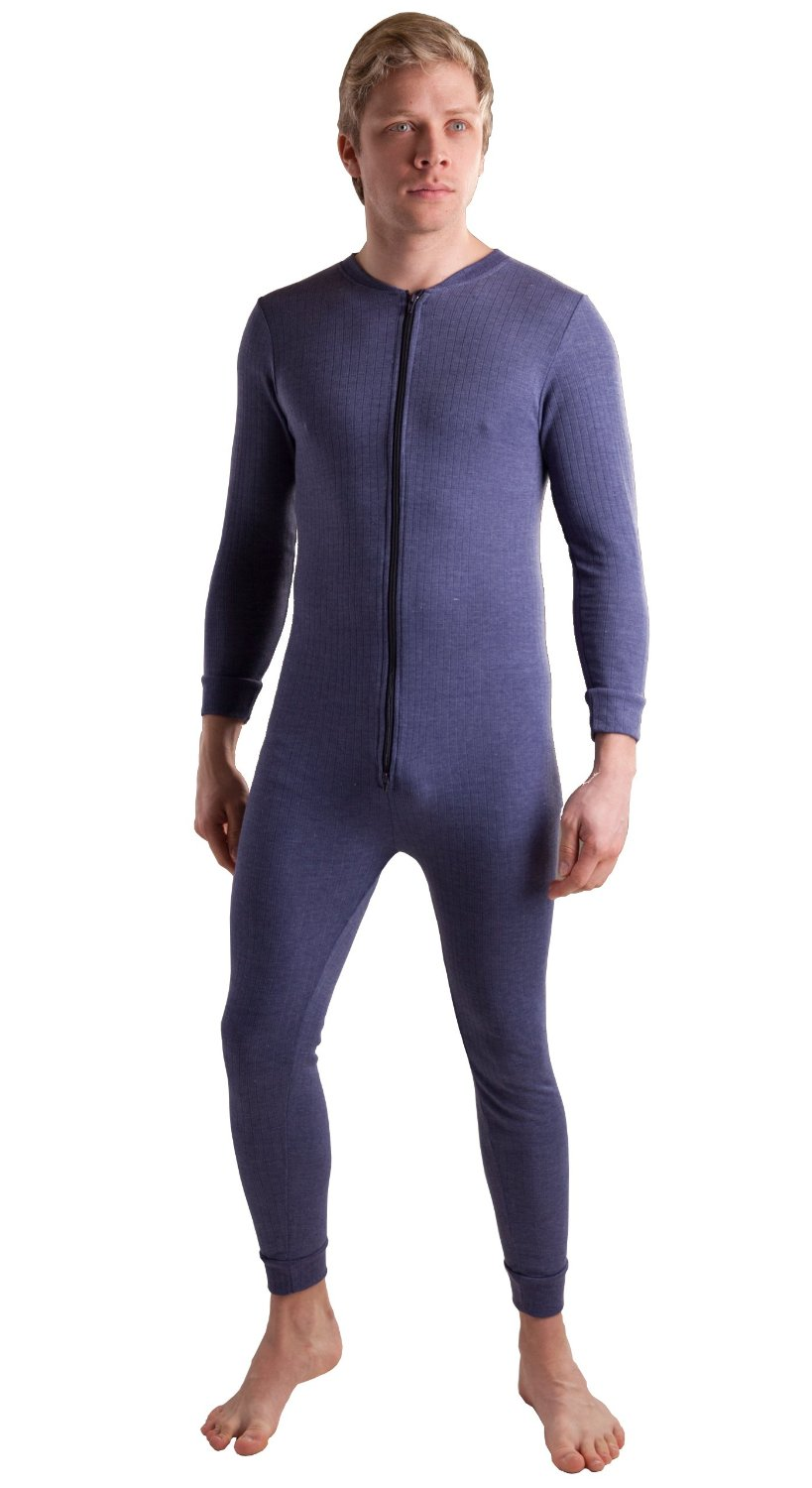 OCTAVE® 3 PACK : Mens All in One Thermal Union Suit with Zipped ...