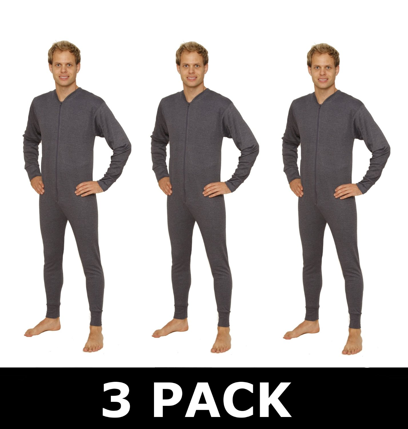 Thermal Baselayers : 3 PACK Mens All In One Thermal Underwear ...