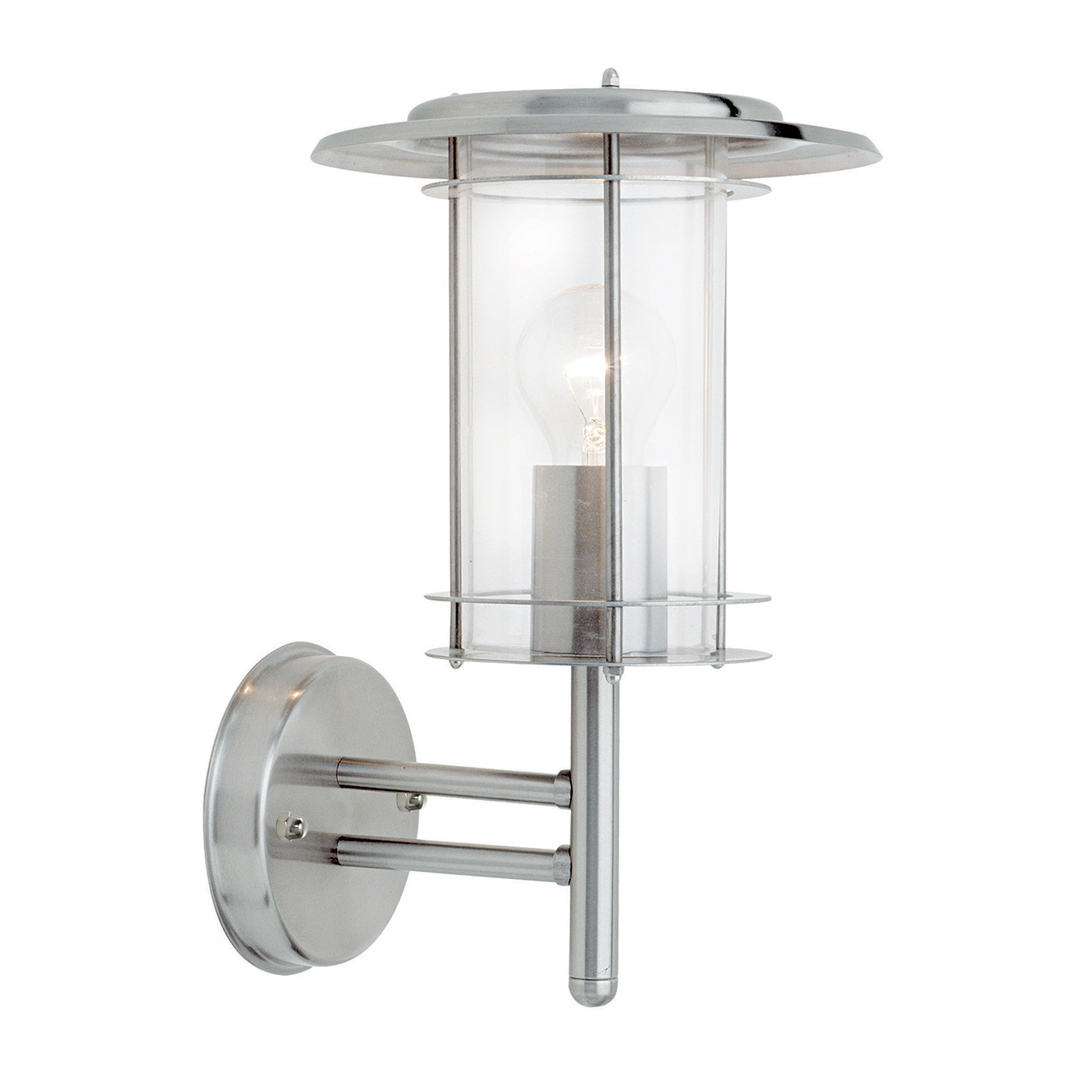 Wall Lights York: Endon York Outdoor Wall Light IP44 60W Polished Stainless