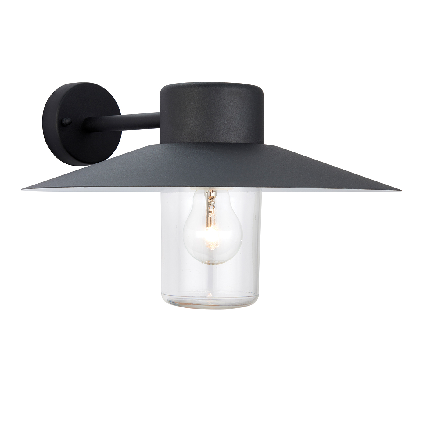 Outdoor Wall Light Accessories: Endon Fenwick Outdoor Wall Light IP44 40W Textured Black