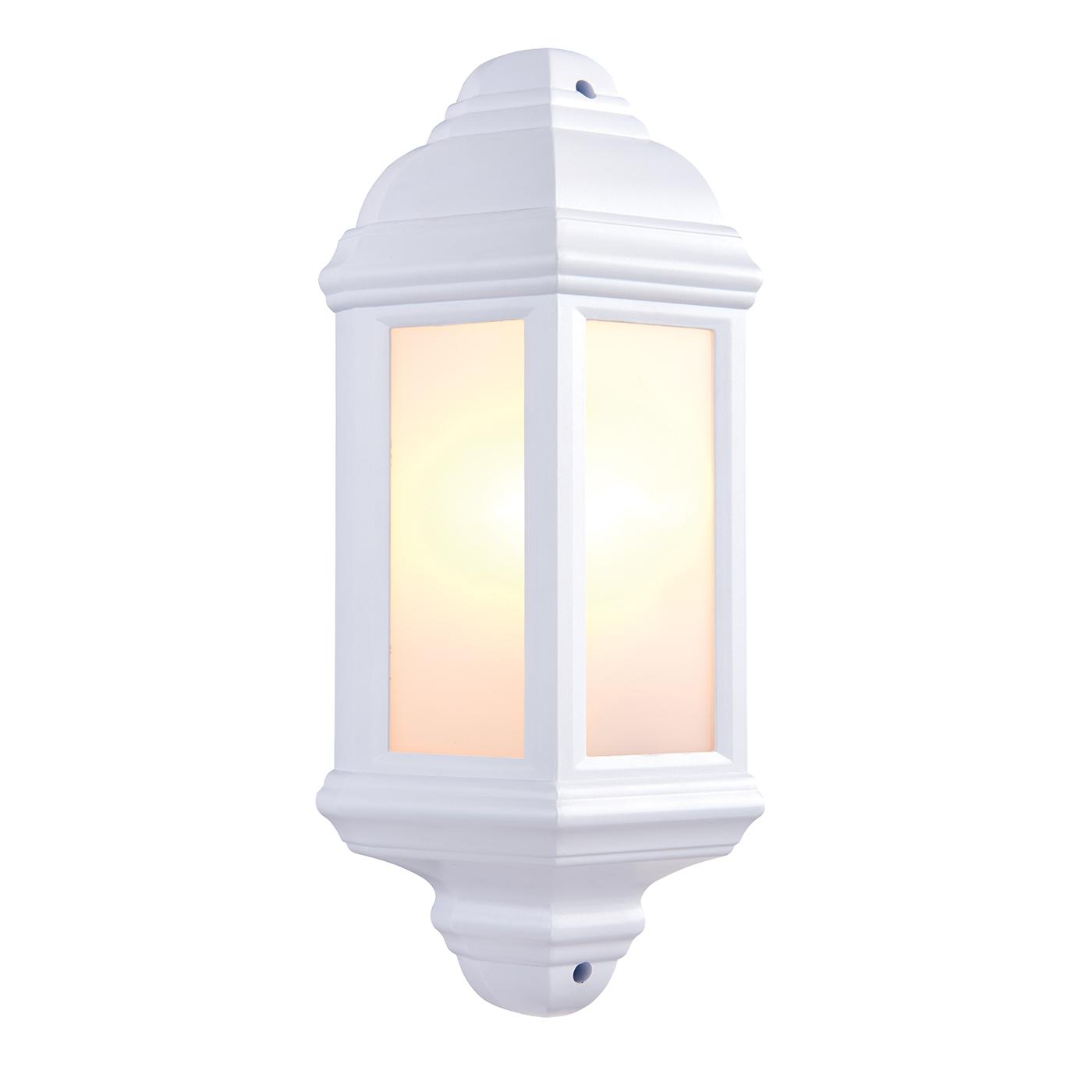 Outdoor Wall Light Accessories: Endon Halbury Outdoor Wall Light IP44 60W Matt White