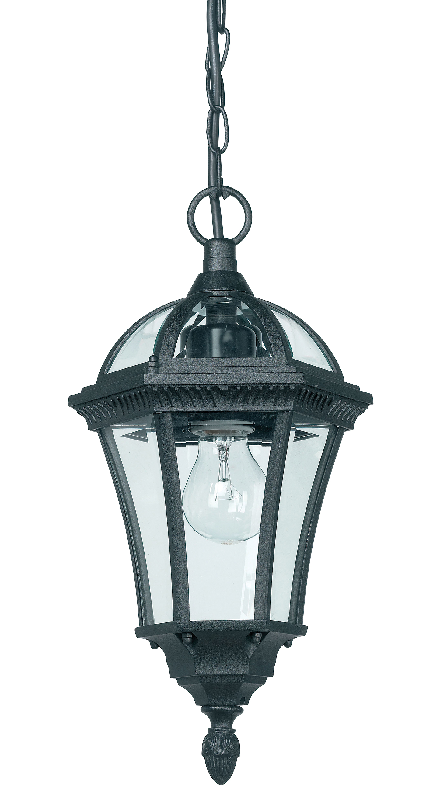 endon ip44 drayton outdoor pendant light ip44 60w textured black clear glass liminaires