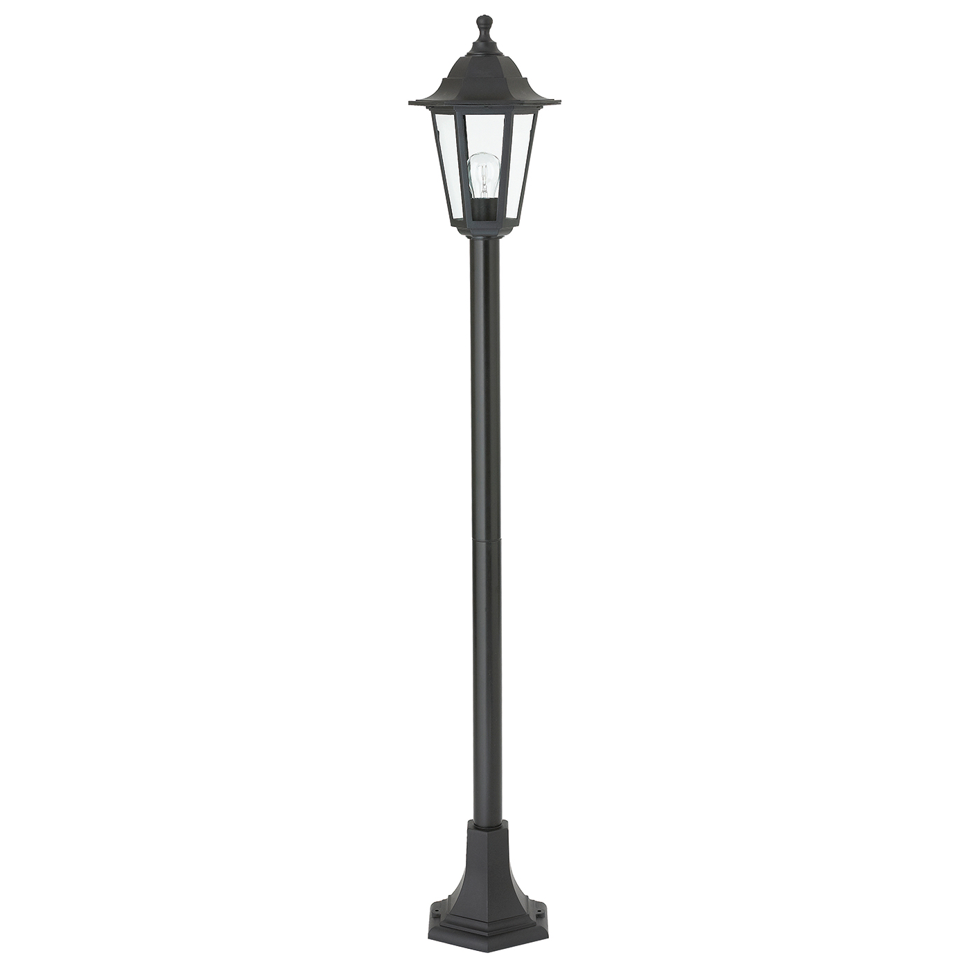 Endon Bayswater Outdoor Lamp Post Ip44 60w Black Polypropylene Amp Clear Glass Liminaires