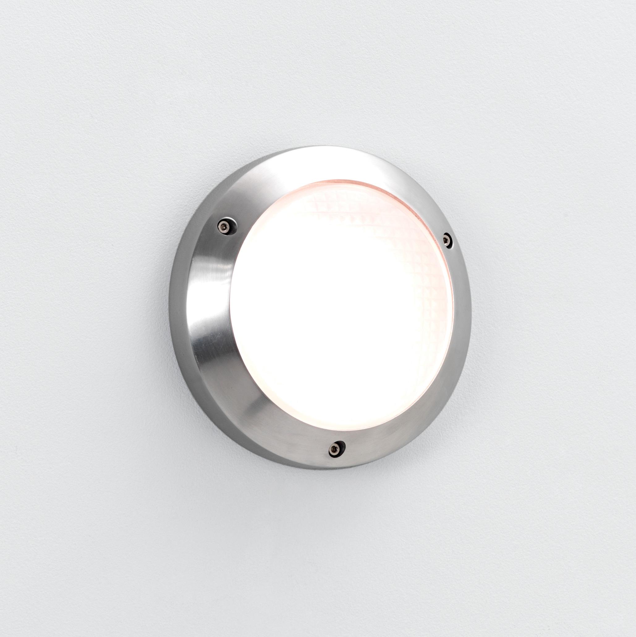ASTRO Toronto Plus 170 0604 round bathroom wall light 1x9W GX53 lamp aluminium Liminaires