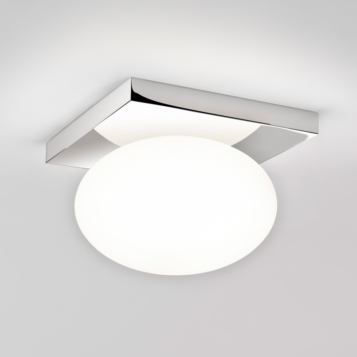 Astro castiro 225 7014 bathroom glass oval ceiling light 60w e27 ip44 chrome - Lampe salle de bain ikea ...