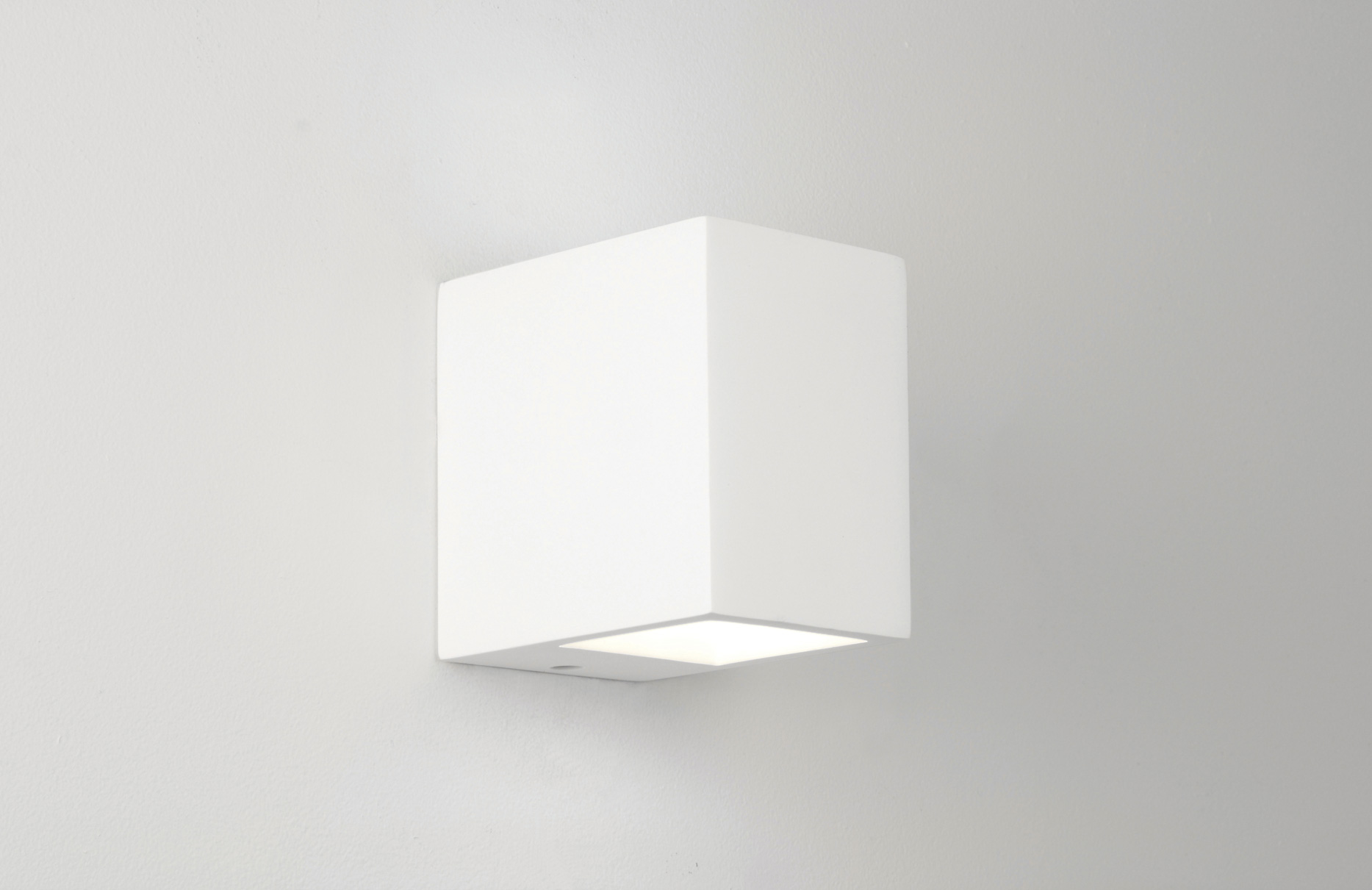 Dimmable Plaster Wall Lights : Astro Mosto 0813 rectangular dimmable wall light 40W G9 lamp IP20 white plaster Liminaires