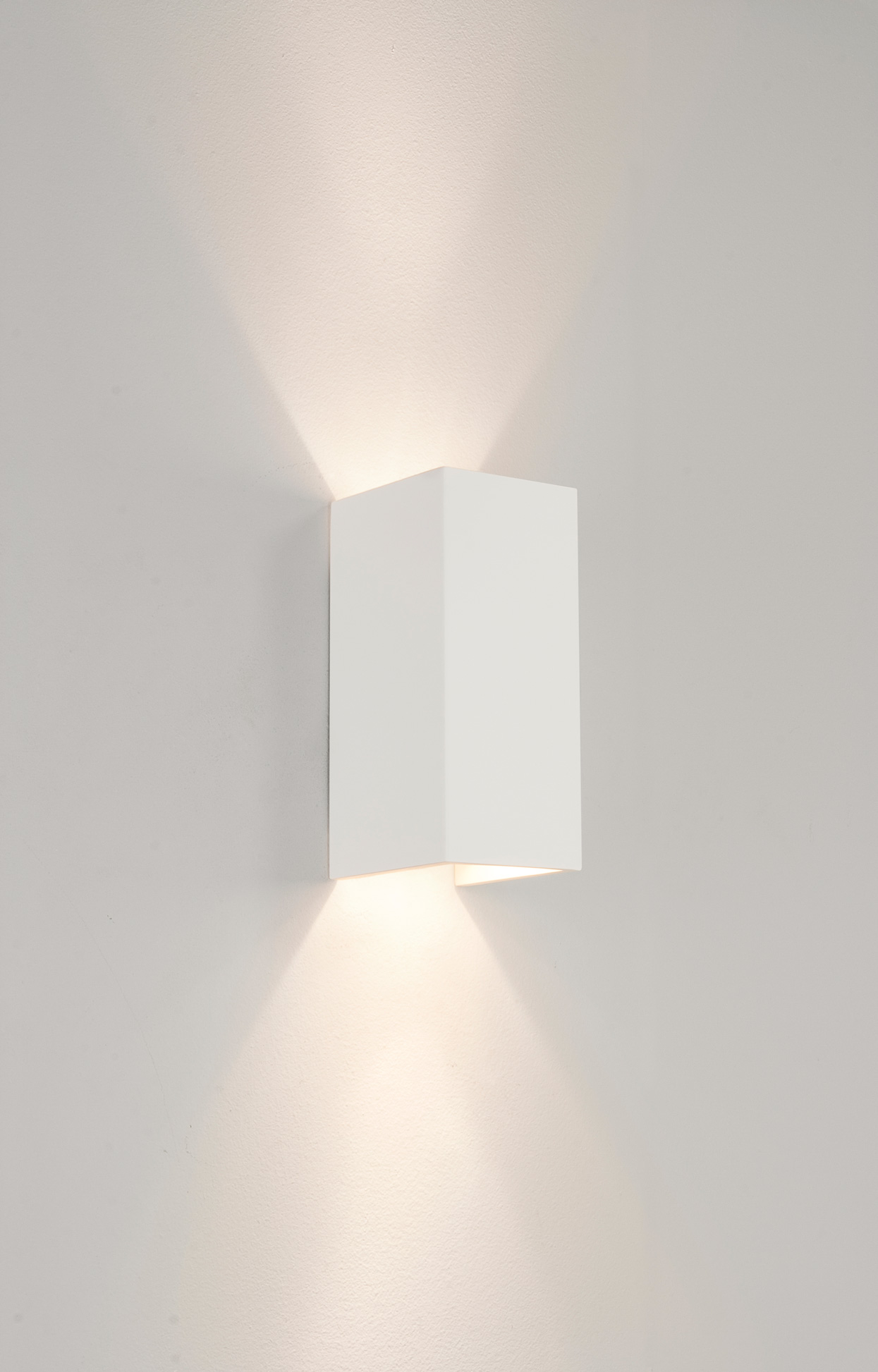 White Dimmable Wall Lights : Astro Parma 210 0964 dimmable 2x50W GU10 rectangular wall light IP20 plaster eBay