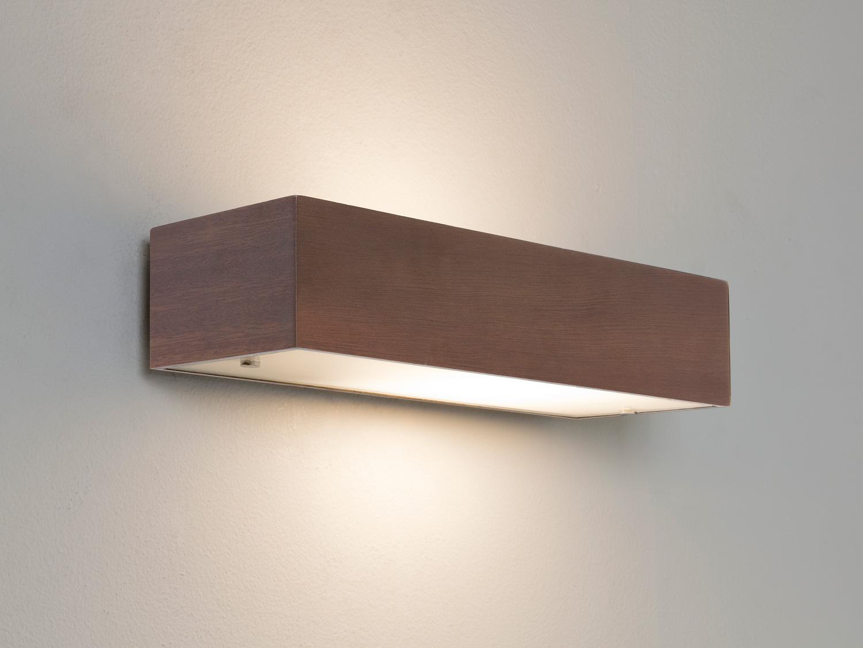 Wall Light Switch Remote Control : Astro Manerbio 0400 rectangular wall light 60W E14 lamp IP20 walnut wood finish eBay