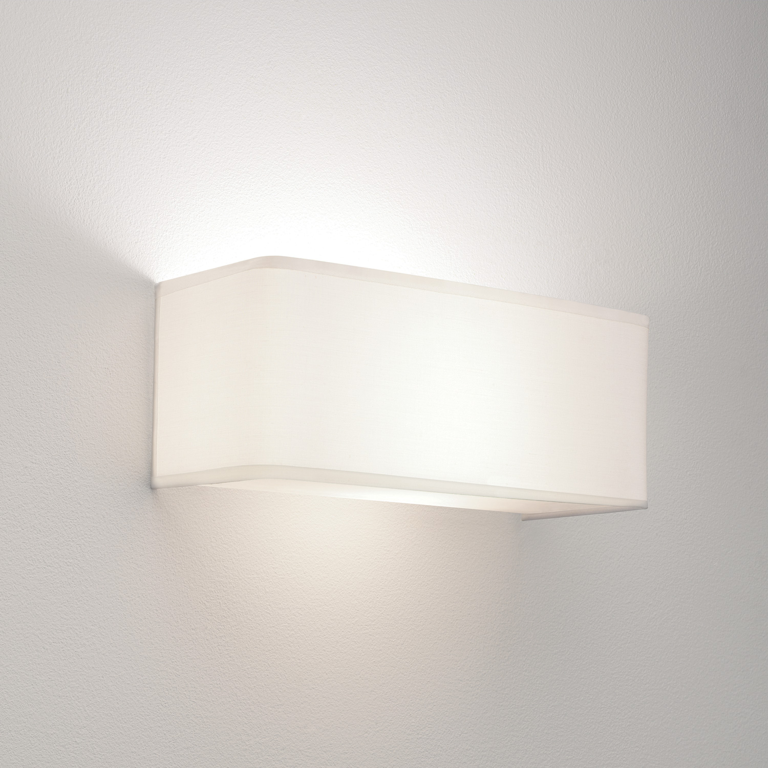 White Dimmable Wall Lights : Astro Ashino Wide 0767 dimmable rectangular fabric wall light 60W E27 lamp IP20 eBay