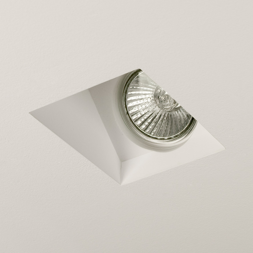 Ceiling Wall Washer Lights : Astro Blanco 5656 45 degree wall washer recessed ceiling light 50W GU10 lamp eBay