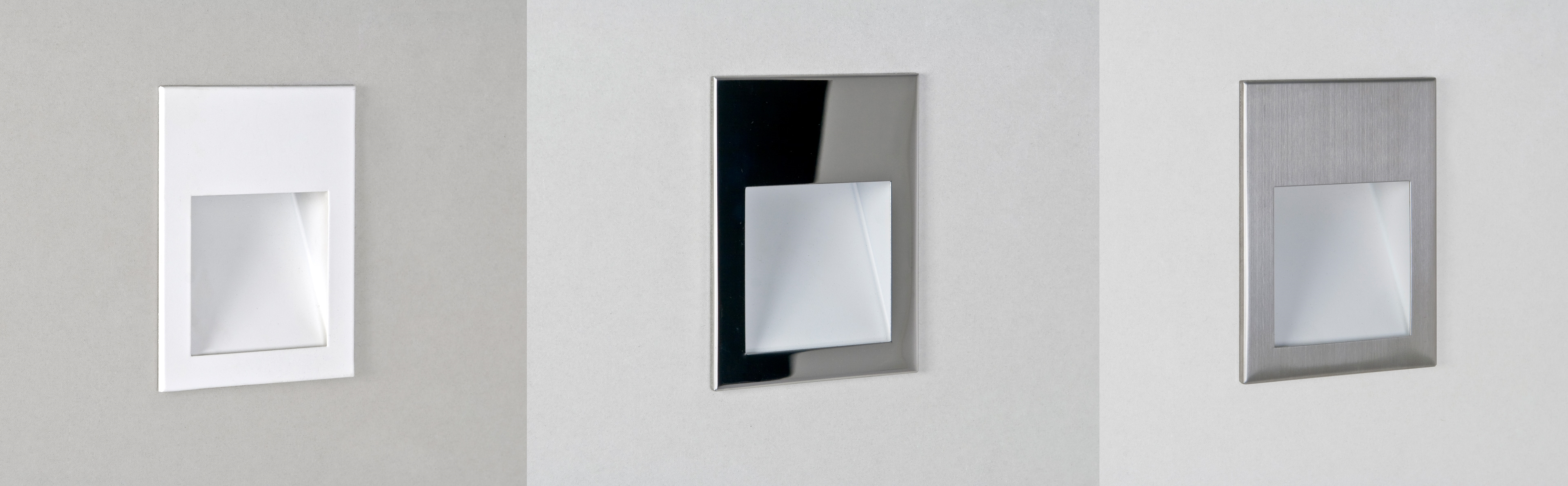 Astro Recessed Wall Lights : Astro Borgo 90 recessed 3W LED low level wall light chrome white stainless steel