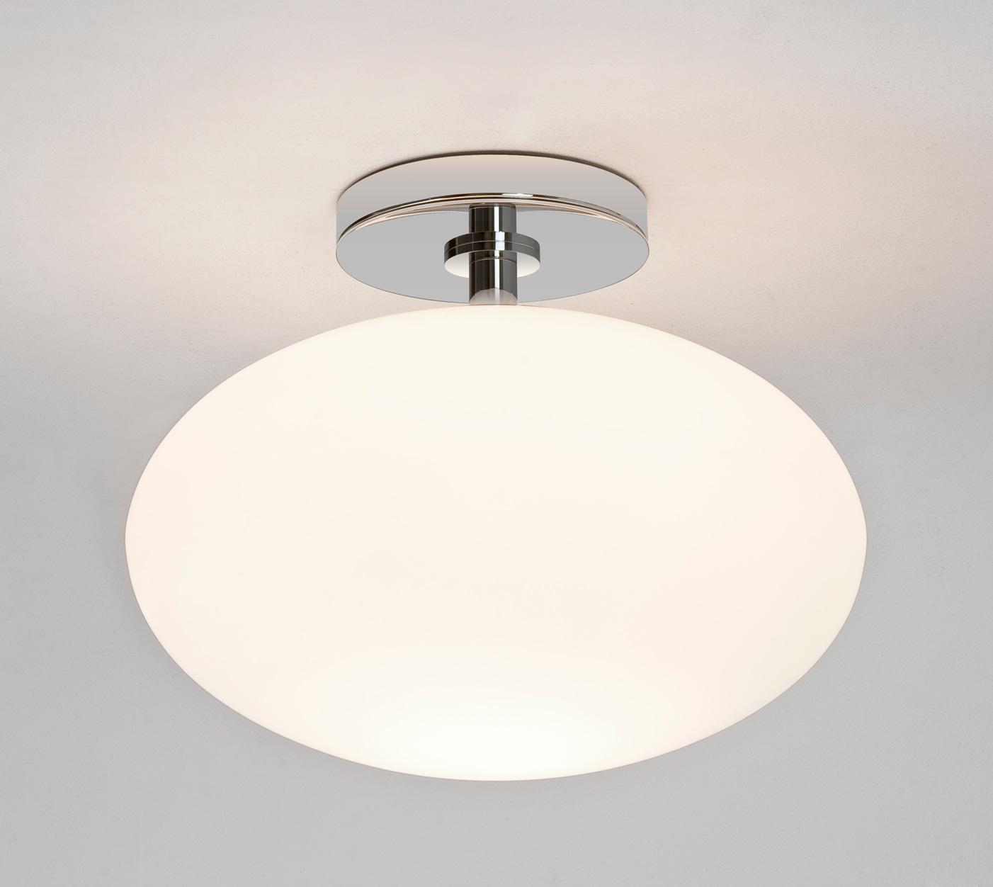 Astro Zeppo 0830 Bathroom Glass Oval Ceiling Ligh 60W E27