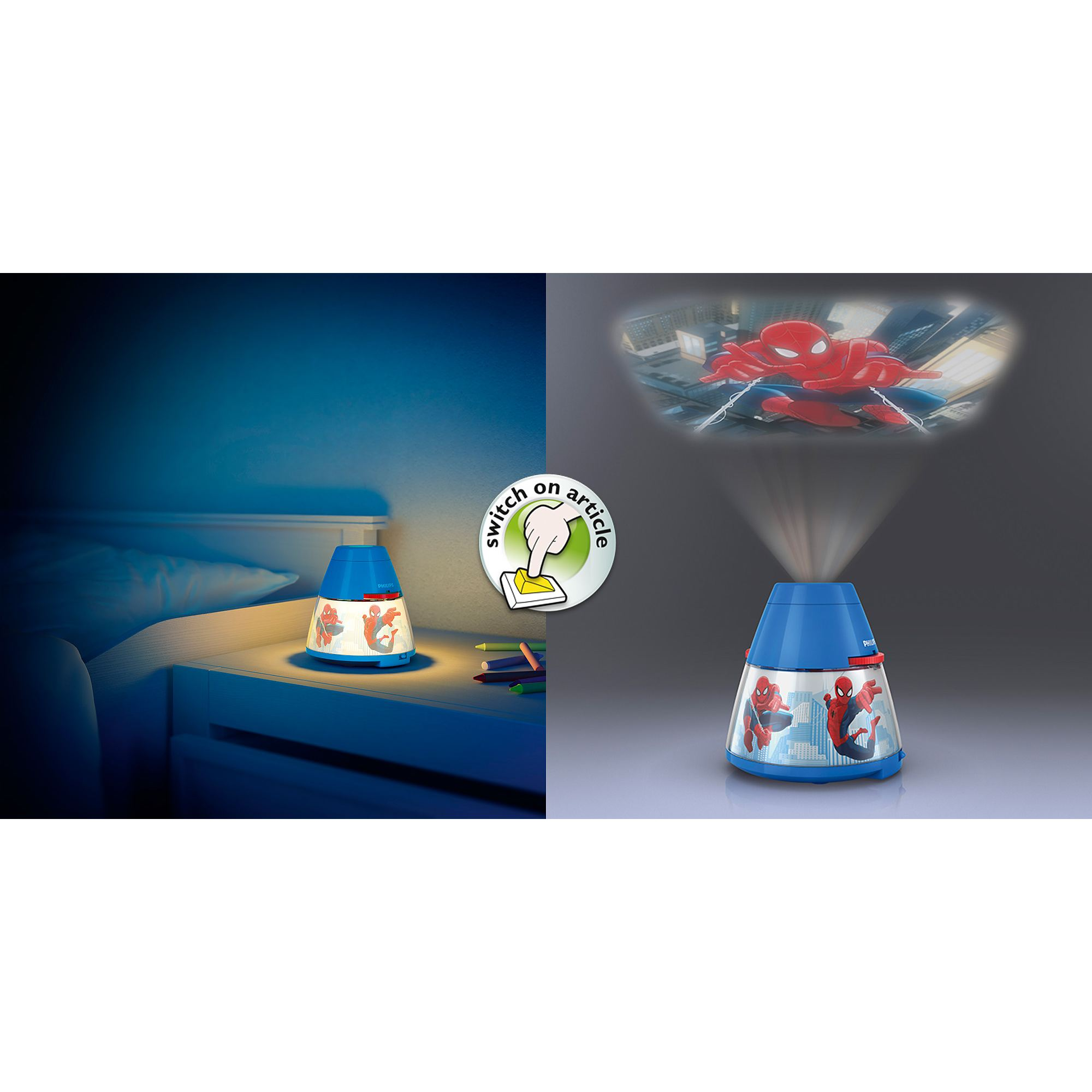 philips marvel spiderman children 39 s led night light. Black Bedroom Furniture Sets. Home Design Ideas