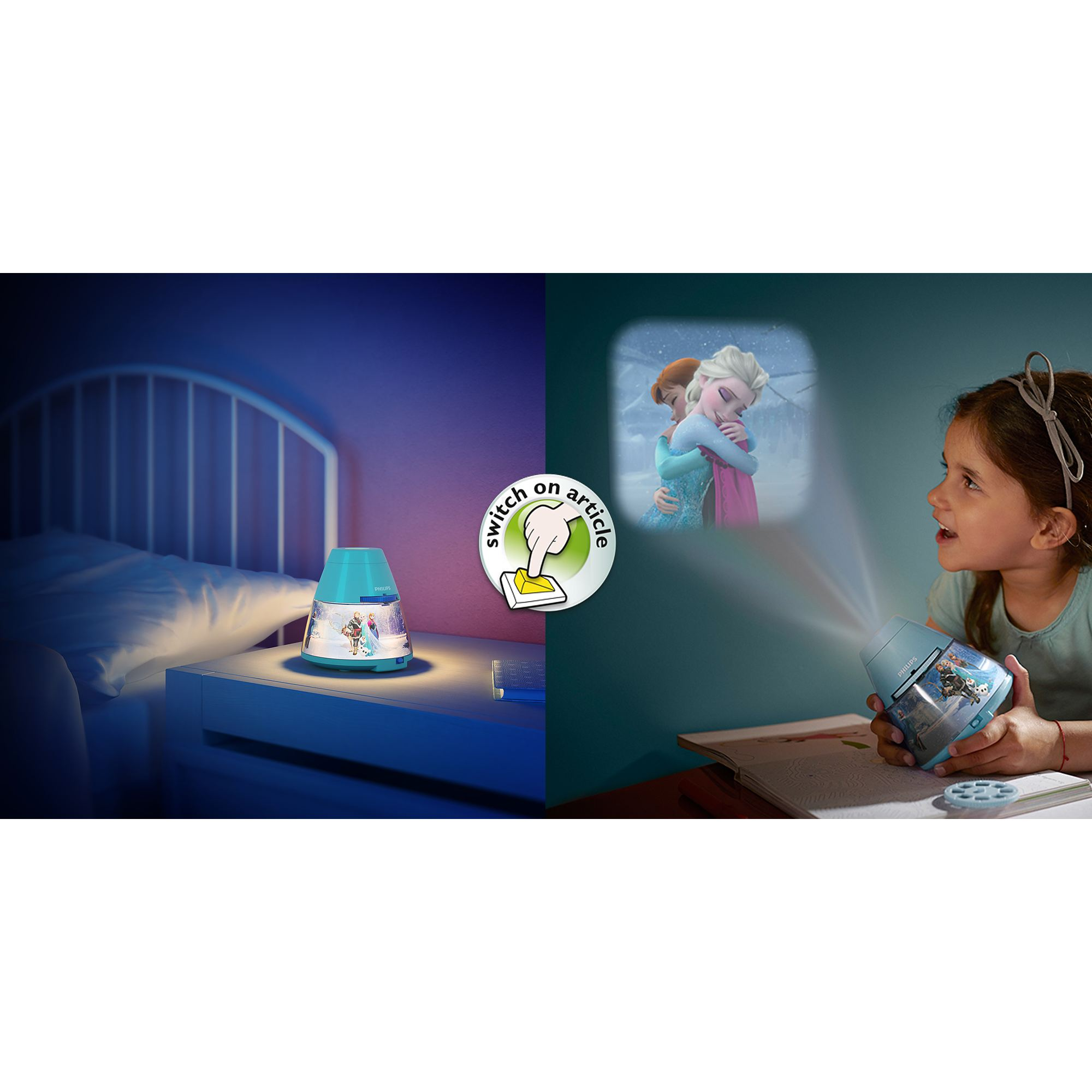 philips disney frozen children 39 s led night light projector. Black Bedroom Furniture Sets. Home Design Ideas