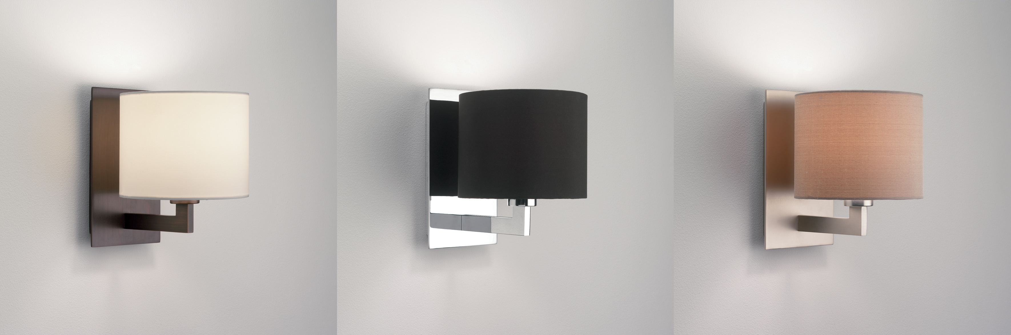 Astro Olan lampshade wall light 60W E14 chrome nickel bronze shade options eBay