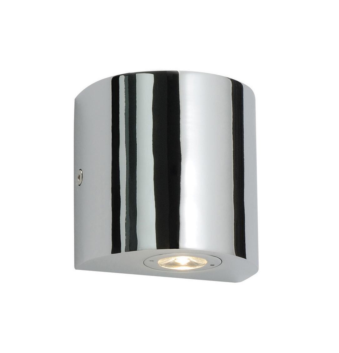 Lampe del murale salle de bain 1w haute puissance chrome - Lampe led pour salle de bain ...