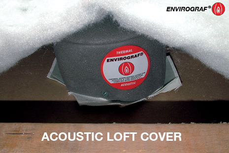 Downlight Intumescent Acoustic Loft Cover Fire Hood