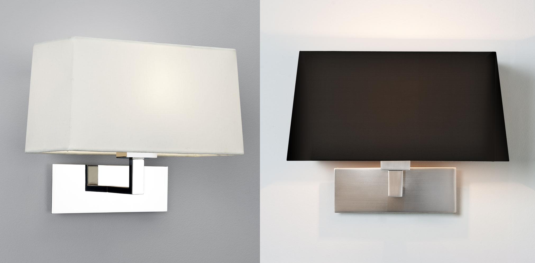 Astro Park Lane Grande tapered shade wall Light 60W E27 bronze polished nickel eBay