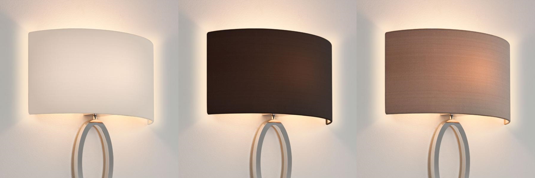 Wall Sconces With Half Shades : Astro Lima fabric half lampshade for wall light with E27 / ES shade ring eBay