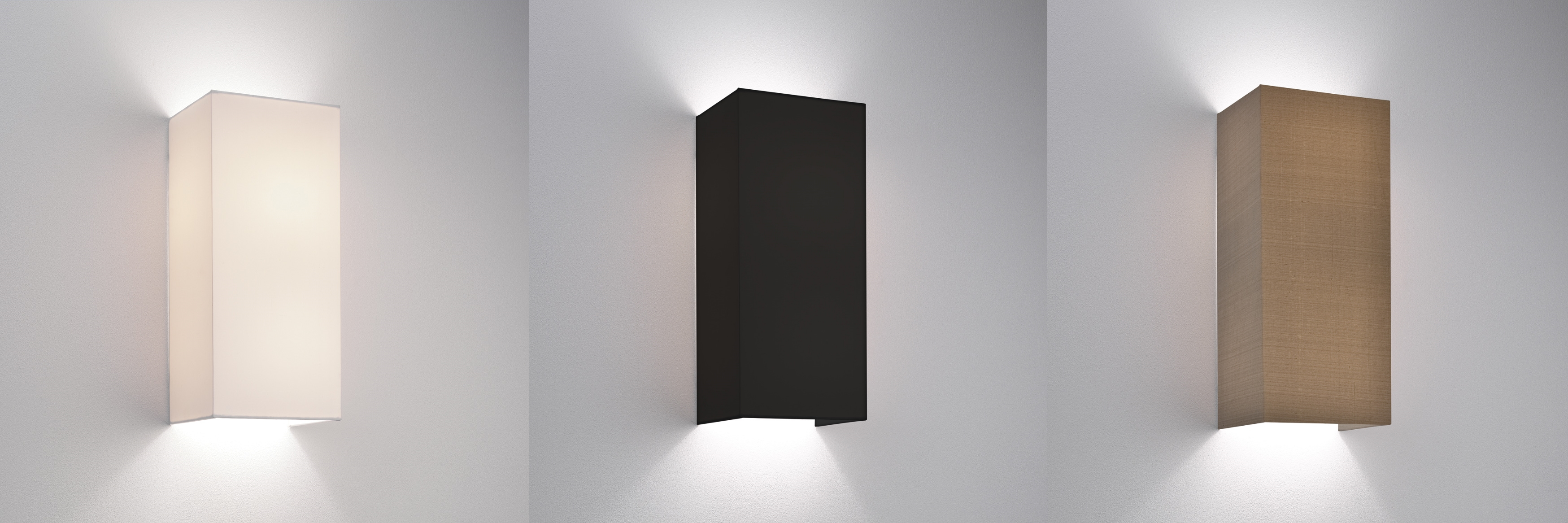 Wall Lamp With Shades : Astro Chuo 380 fabric wall light shade 2x60W E27 white black oyster eBay