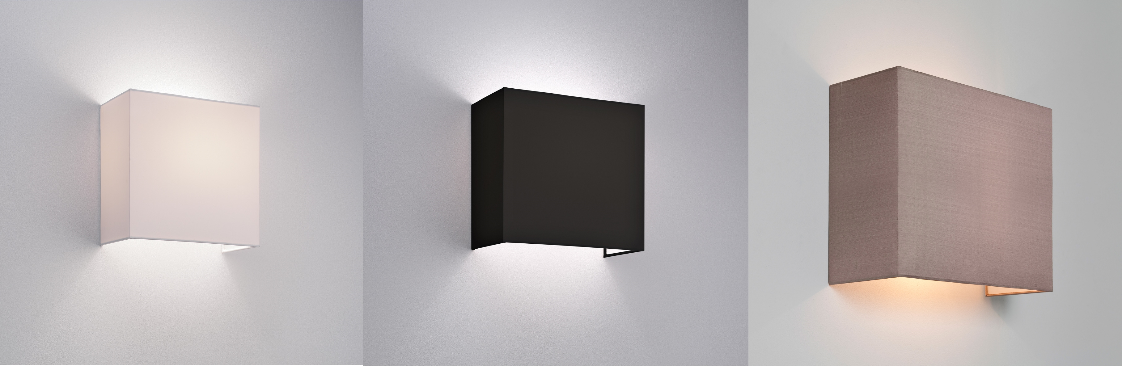 Fabric Wall Lamp Shades : Astro Chuo 250 fabric wall light shade 60W E27 white black oyster eBay